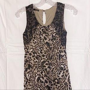 Maurices Leopard Print Bubble Hem Tank w/Lace XS